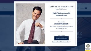 Screenshot Charles Tyrwhitt Shirts