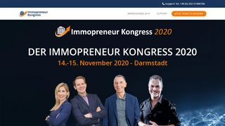 Immopreneur Kongress Gutscheine - Screenshot