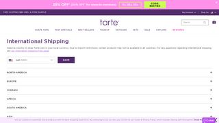 Tarte Cosmetics Gutscheine - Screenshot